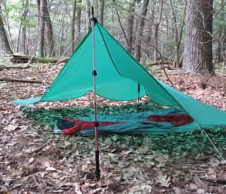 Trekking pole can support a shelter. & Do Trekking Poles Help You Walk? | Adventure Travel Writer