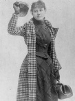 In 1889 Nellie Bly circuited the world in 72 days by sea and land, a record breaking trek.
